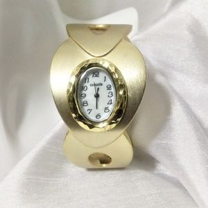 Chico's Brushed Gold Tone Bangle Watch